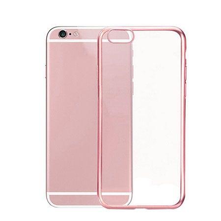 iPhone 6 przezroczyste etui platynowane SLIM kolor różowy.