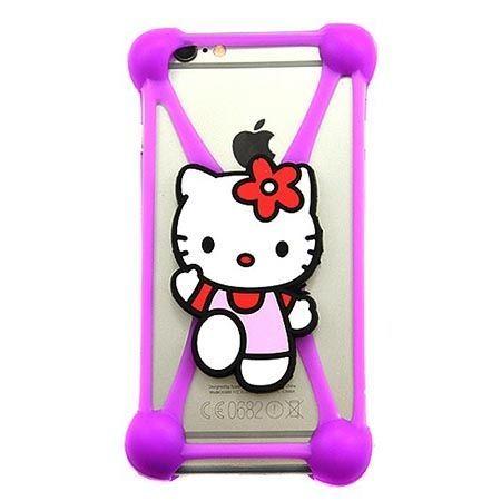 Gumowe etui na telefon z kolorową postacią - kotek.