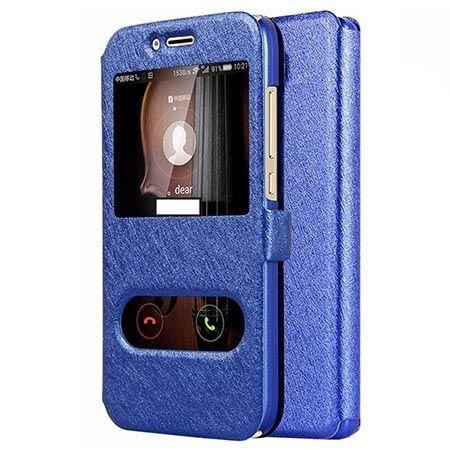 Etui na Huawei Mate 10 Lite Flip Quick View z klapką dwa okienka - Niebieski.