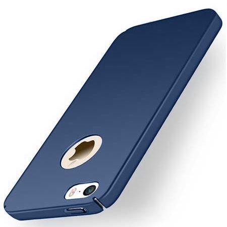 Etui na telefon iPhone 5 / 5s - Slim MattE - Granatowy.
