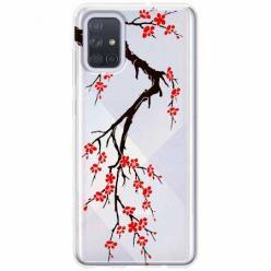 Etui na Samsung Galaxy A51 - Krzew kwitnącej wiśni.