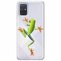 Etui na Samsung Galaxy A51 - Zielona żabka.