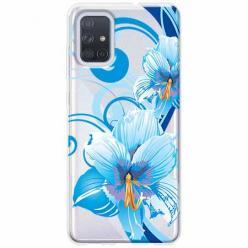 Etui na Samsung Galaxy A51 - Niebieski kwiat północy.