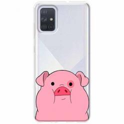 Etui na Samsung Galaxy A51 - Słodka różowa świnka.