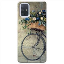 Etui na Samsung Galaxy A51 - Rower z kwiatami
