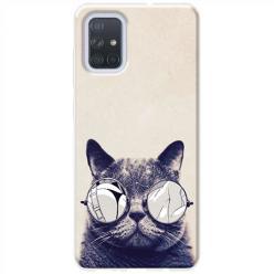 Etui na Samsung Galaxy A51 - Kot w okularach