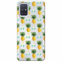 Etui na Samsung Galaxy A71 - Ananasowe szaleństwo.
