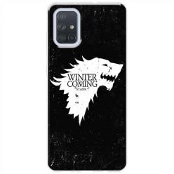 Etui na Samsung Galaxy A71 - Winter is coming White