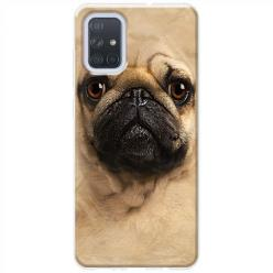 Etui na Samsung Galaxy A71 - Pies Szczeniak face 3d
