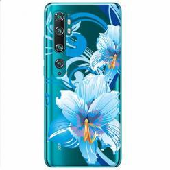 Etui na Xiaomi Mi Note 10 - Niebieski kwiat północy.