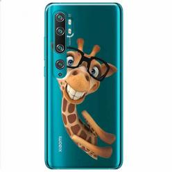 Etui na Xiaomi Mi Note 10 - Żyrafa w okularach.