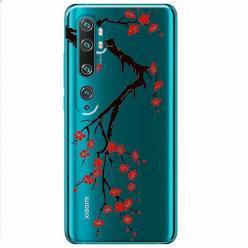 Etui na Xiaomi Mi Note 10 Pro - Krzew kwitnącej wiśni.