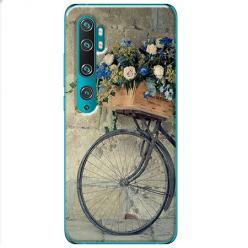 Etui na Xiaomi Mi Note 10 Pro - Rower z kwiatami