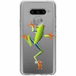 Etui na LG K50s - Zielona żabka.