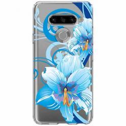 Etui na LG K50s - Niebieski kwiat północy.
