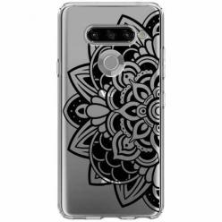 Etui na LG K50s - Kwiatowa mandala.