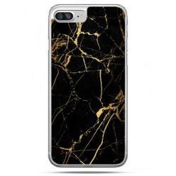 Twarde etui na iPhone 7 Plus - Złoty marmur.