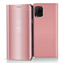 Etui na Huawei P40 Lite - Flip Clear View z klapką - Różowy.