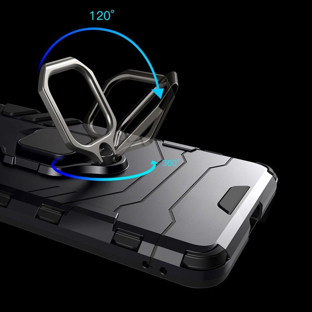 Etui na Huawei P Smart 2019 - Pancerne Magnet Ring - Czarny.