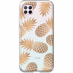 Etui na Huawei P40 Lite - Złote ananasy.