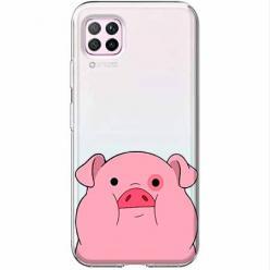 Etui na Huawei P40 Lite - Słodka różowa świnka.