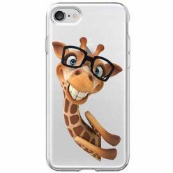 Etui na iPhone SE 2020 - Żyrafa w okularach.