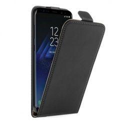 Etui na telefon Galaxy S8 - kabura z klapką - czarny.
