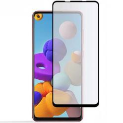 Samsung A21s hartowane szkło 5D Full Glue - Czarny.