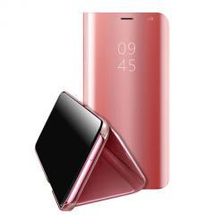 Etui na Xiaomi Redmi 9c Flip Clear View z klapką - Różowy.