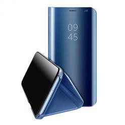 Etui na Huawei P40 Lite - Flip Clear View z klapką - Niebieski.