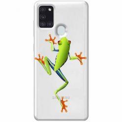 Etui na Samsung Galaxy A21s - Zielona żabka.