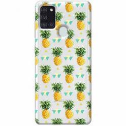 Etui na Samsung Galaxy A21s - Ananasowe szaleństwo.