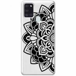 Etui na Samsung Galaxy A21s - Kwiatowa mandala.