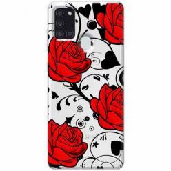 Etui na Samsung Galaxy A21s - Czerwone róże.