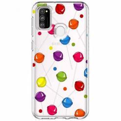 Etui na Samsung Galaxy M21 - Kolorowe lizaki.