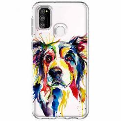 Etui na Samsung Galaxy M21 - Watercolor pies.