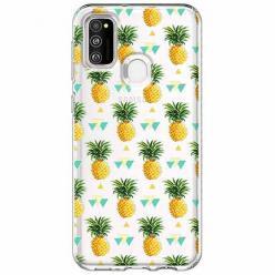 Etui na Samsung Galaxy M21 - Ananasowe szaleństwo.