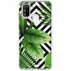 Etui na Samsung Galaxy M21 -  Egzotyczne liście bananowca.