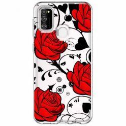 Etui na Samsung Galaxy M21 - Czerwone róże.