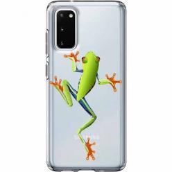 Etui na Samsung Galaxy S20 - Zielona żabka.
