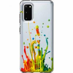 Etui na Samsung Galaxy S20 - Kolorowy splash.