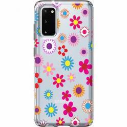 Etui na Samsung Galaxy S20 - Kolorowe stokrotki.