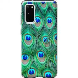 Etui na Samsung Galaxy S20 - Pawie Pióra