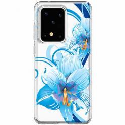 Etui na Samsung Galaxy S20 Ultra - Niebieski kwiat północy.
