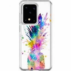 Etui na Samsung Galaxy S20 Ultra - Watercolor ananasowa eksplozja.