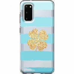 Etui na Samsung Galaxy S20 Plus - Złota czterolistna koniczyna.