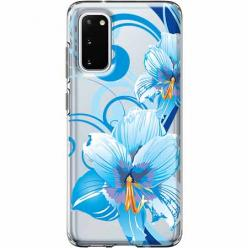 Etui na Samsung Galaxy S20 Plus - Niebieski kwiat północy.