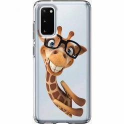Etui na Samsung Galaxy S20 Plus - Wesoła żyrafa w okularach.