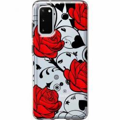 Etui na Samsung Galaxy S20 Plus - Czerwone róże.