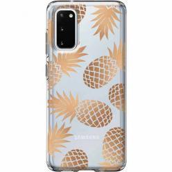 Etui na Samsung Galaxy S20 Plus -Złote ananasy.